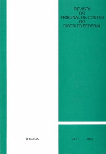 Capa de Livro: Revista do TCDF v. 30 t. 1 (2004)