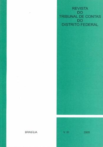 Capa de Livro: Revista do TCDF v. 31 (2005)