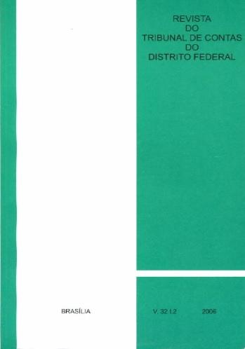 Capa de Livro: Revista do TCDF v. 32 t. 2, 2006