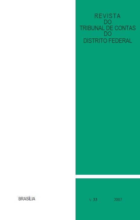 Capa de Livro: Revista do TCDF v. 33 (2007)