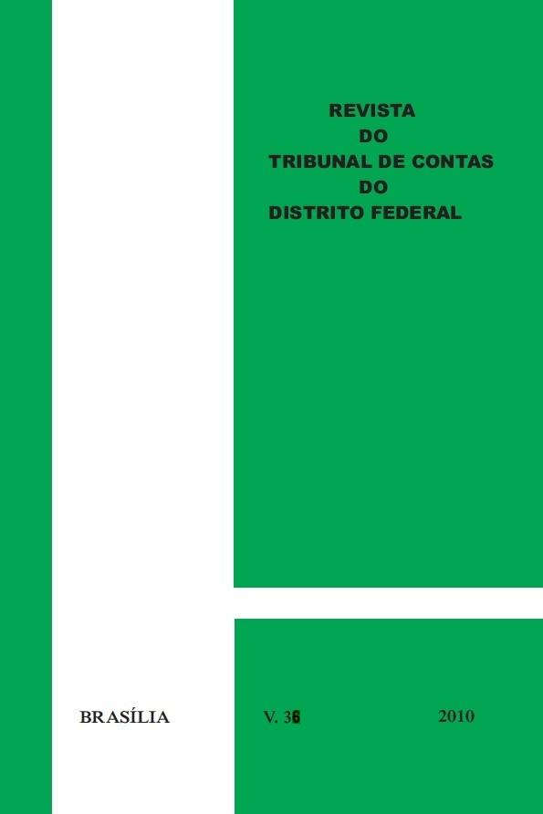 Capa de Livro: Revista do TCDF v. 36 (2010)