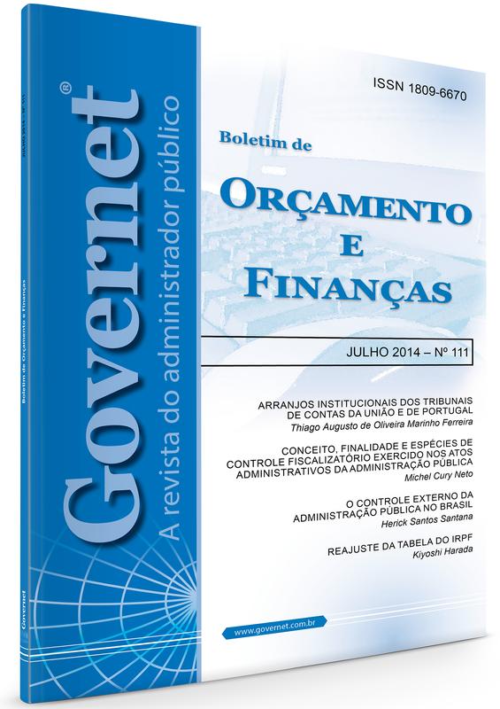Capa de Livro: Boletim de Orçamento e Finanças (jan. 2020)