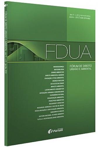 Capa de Livro: Fórum de Direito Urbano e Ambiental (out. 2019)