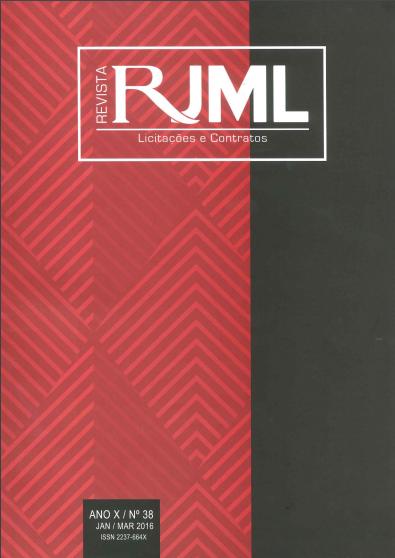 Capa de Livro: Revista JML de Licitações e Contratos (set. 2019)