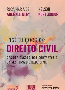 Capa de Livro: Instituições de direito civil: das organizações, dos contratos e da responsabilidade civil