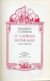 Capa de Livro: O ladrão honrado: várias histórias