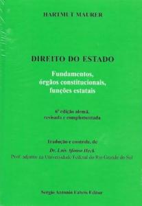 Capa de Livro: Direito do Estado: fundamentos, órgãos constitucionais, funções estatais