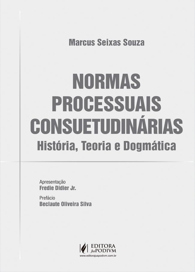 Capa de Livro: Normas processuais consuetudinárias