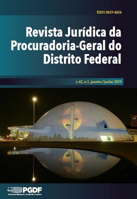 Capa de Livro: Revista Jurídica da Procuradoria-Geral do Distrito Federal (jun. 2019)
