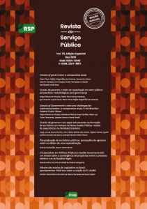 Capa de Livro: Revista Serviço Público (ed. especial 2019)