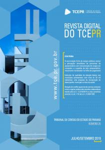 Capa de Livro: Revista TCEPR (set. 2019)