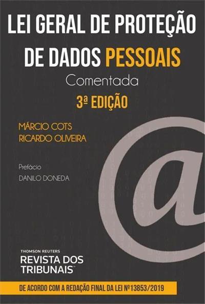 Capa de Livro: Lei geral de proteção de dados pessoais: comentada (3ª Ed.)